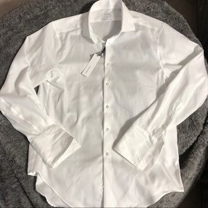 Calvin Klein Steel Slim Fit White Dress Shirt NEW